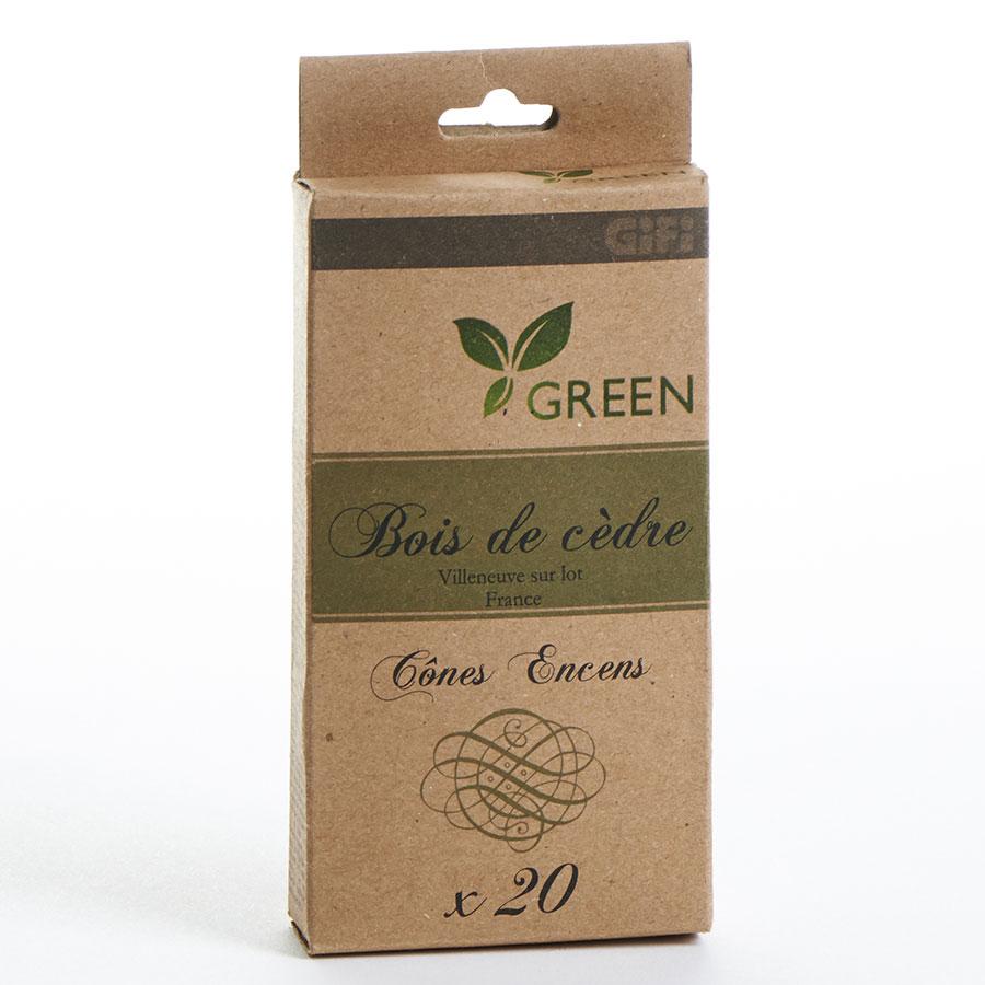 Gifi Green Cône d'encens bois de cèdre (20 cônes) -