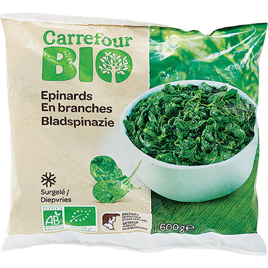 Carrefour Bio Épinards en branches -