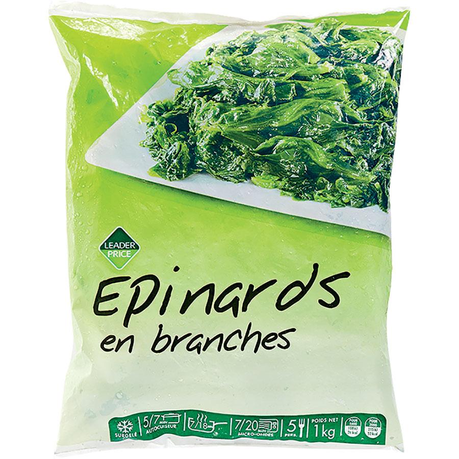 Leader Price Épinards en branches -