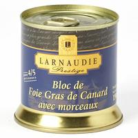 Larnaudie Prestige, bloc de foie gras de canard avec morceaux