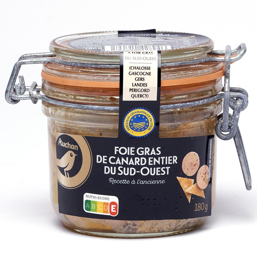 Auchan Foie gras Sud-Ouest recette à l'ancienne -