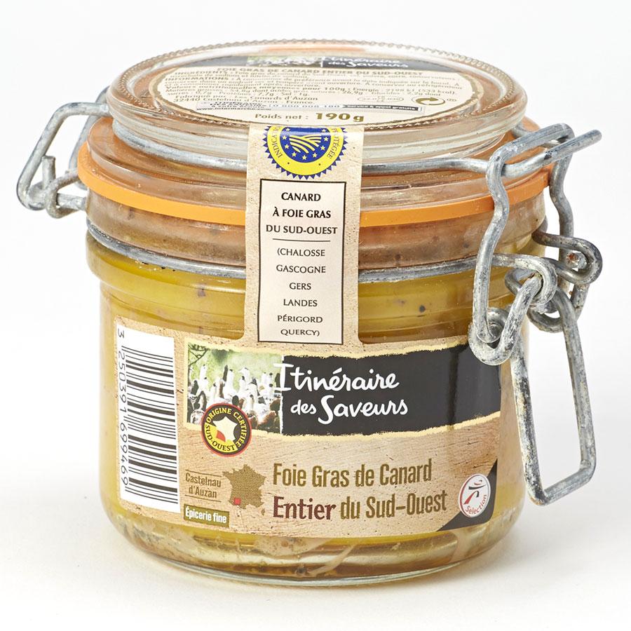 Itinéraire des Saveurs (Intermarché) Foie gras de canard entier du Sud-Ouest -