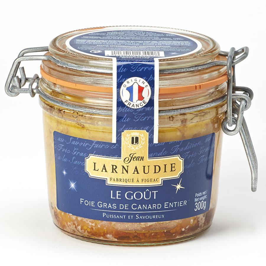 Jean Larnaudie Le Goût puissant et savoureux, foie gras de canard entier -