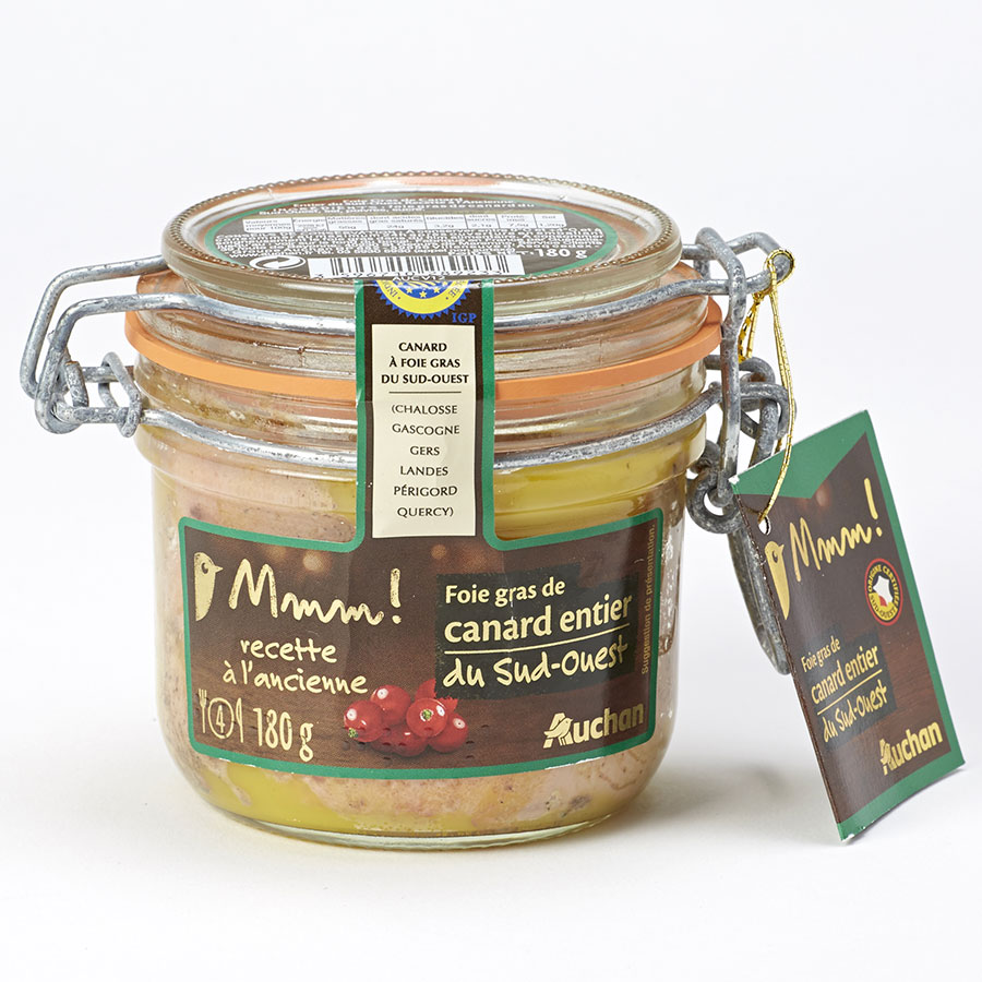 Mmm! (Auchan) Foie gras de canard entier du Sud-Ouest, recette à l'ancienne -