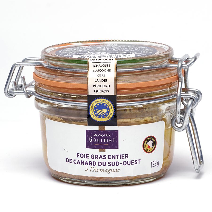 Monoprix Gourmet Foie gras Sud-Ouest à l'armagnac -