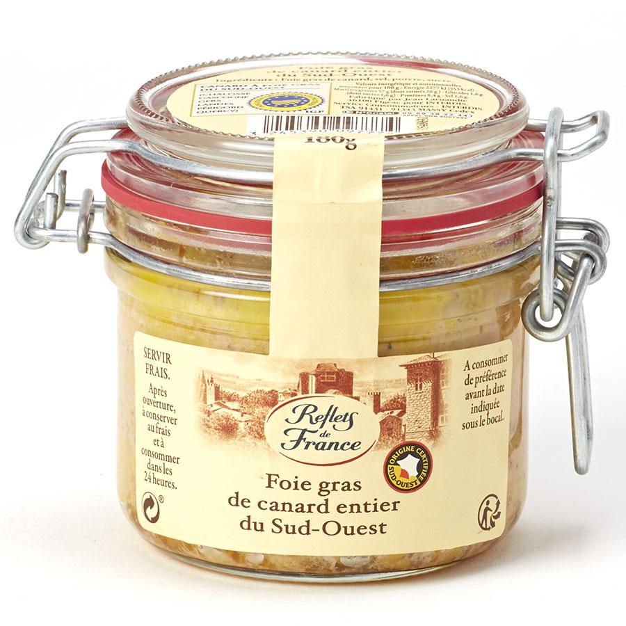 Reflets de France (Carrefour) Foie gras de canard entier du Sud-Ouest -