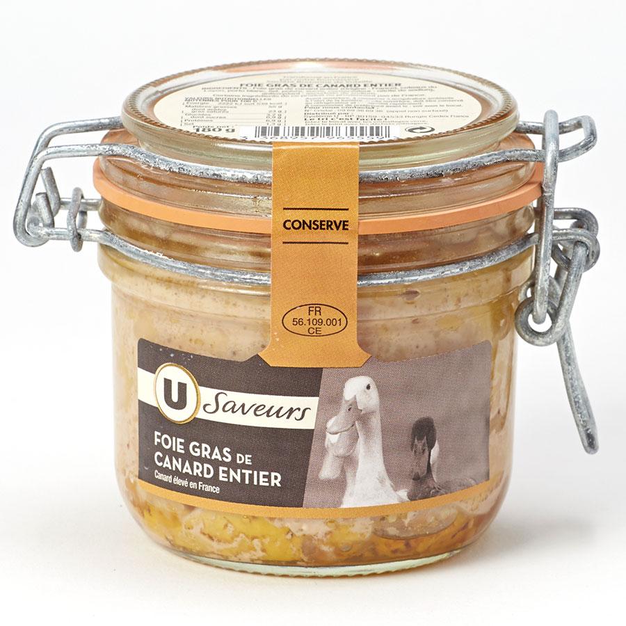 U Saveurs Foie gras de canard entier -