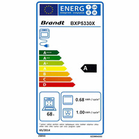 Brandt BXP5330X(*38*) - Étiquette énergie