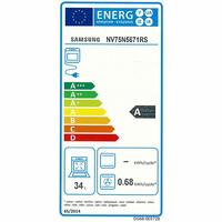 Samsung NV75N5671RS Dual Cook Flex(*41*) - Étiquette énergie de la cavité supérieure