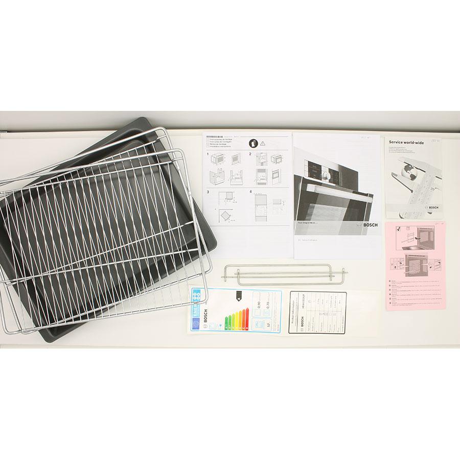 Bosch HBA63B252F - Accessoires et notices livrés avec le four
