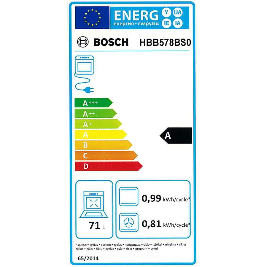 Bosch HBB578BS0(*39*) - Étiquette énergie