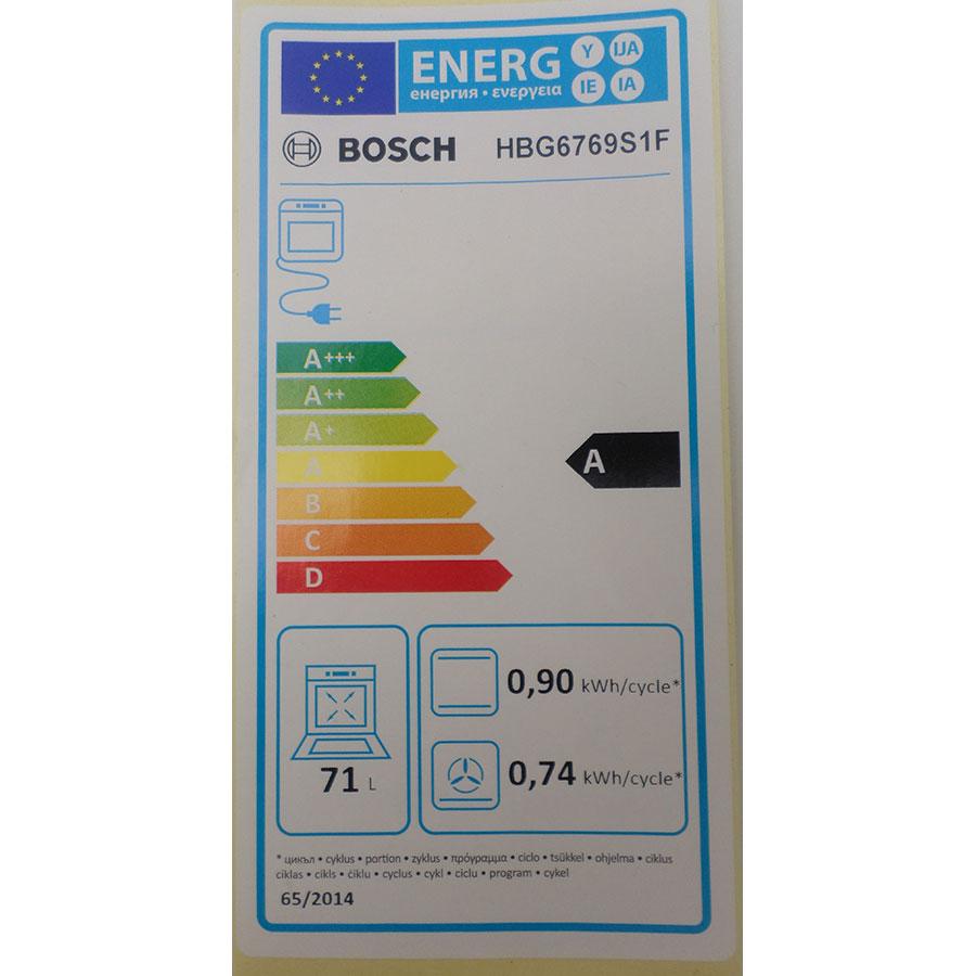 Bosch HBG6769S1F - Étiquette énergie