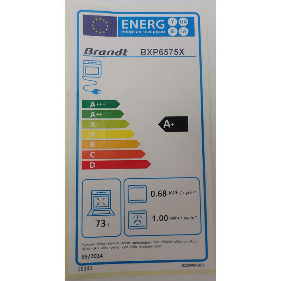 Brandt BXP6575X - Étiquette énergie