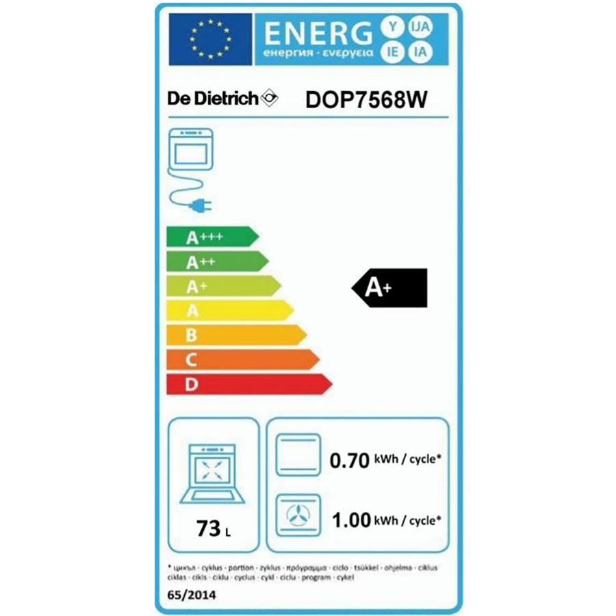 De Dietrich DOP7568W(*58*) - Étiquette énergie