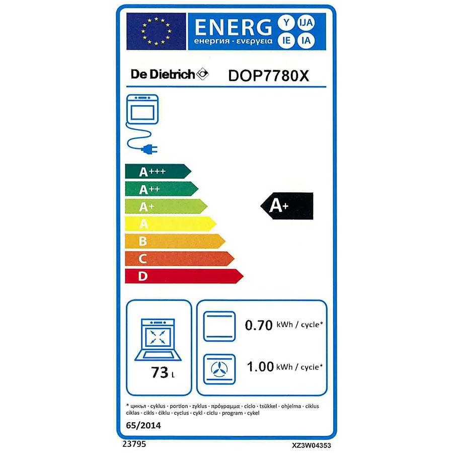 De Dietrich DOP7780X - Étiquette énergie