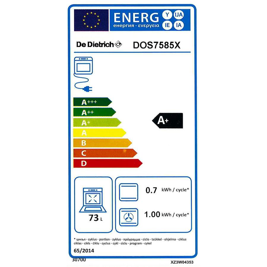 De Dietrich DOS7585X - Étiquette énergie