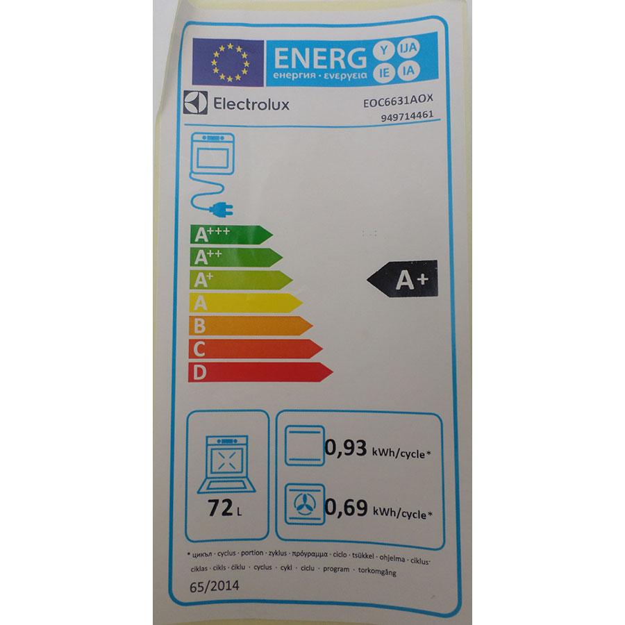 Electrolux EOC6631AOX - Étiquette énergie