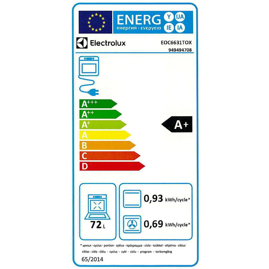Electrolux EOC6631TOX - Étiquette énergie