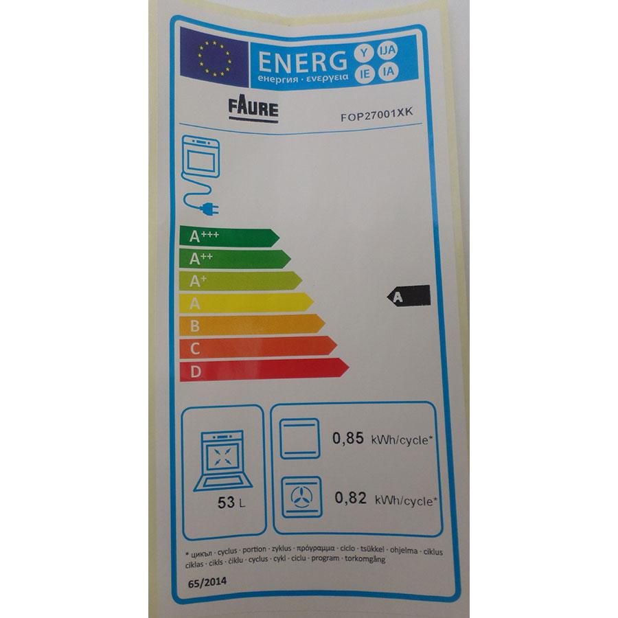 Faure FOP27001XK - Étiquette énergie