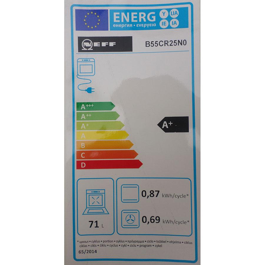 Neff B55CR25N0 - Étiquette énergie