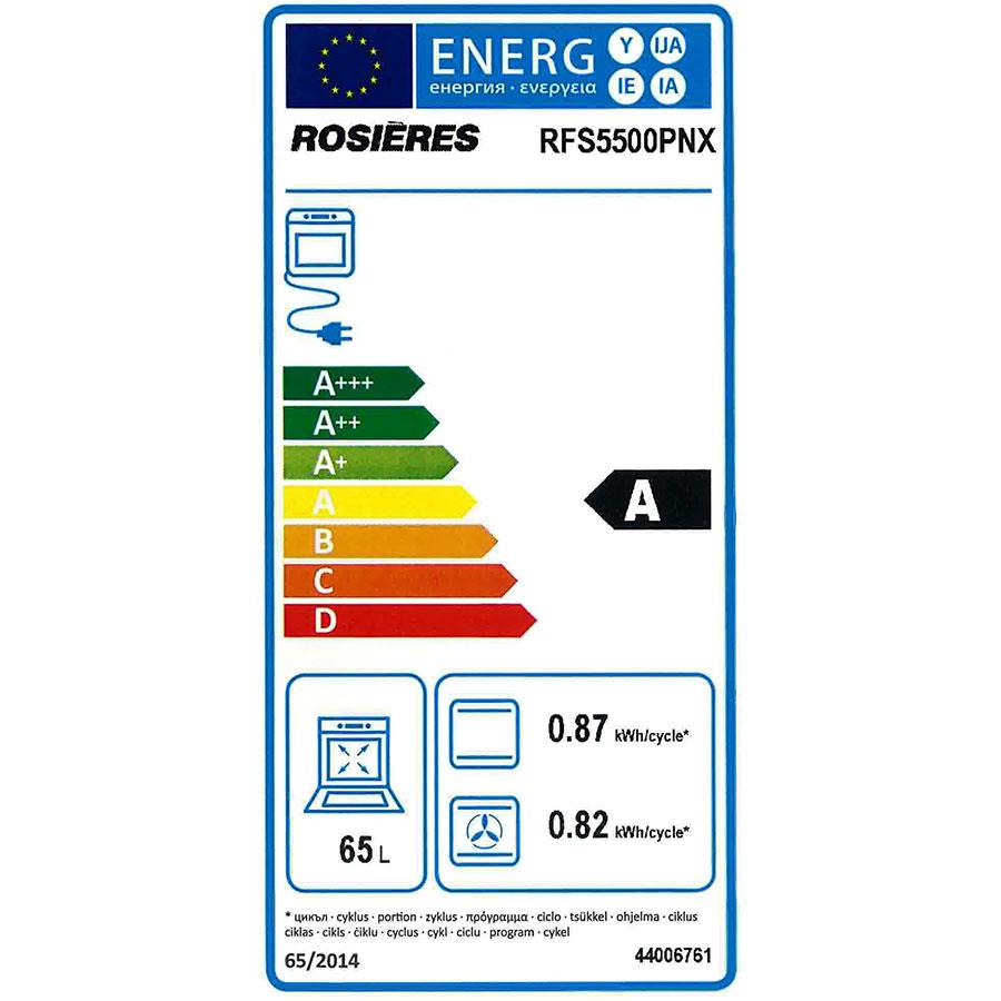 Rosières RFS5500PNX - Étiquette énergie