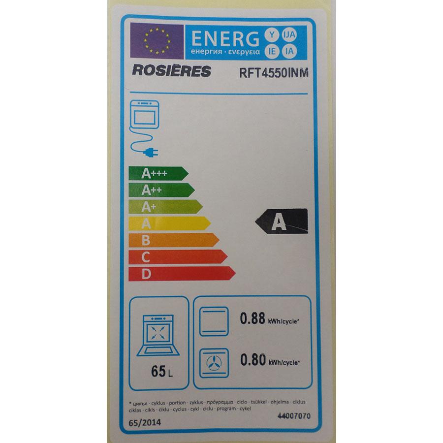 Rosières RFT4550INM - Étiquette énergie