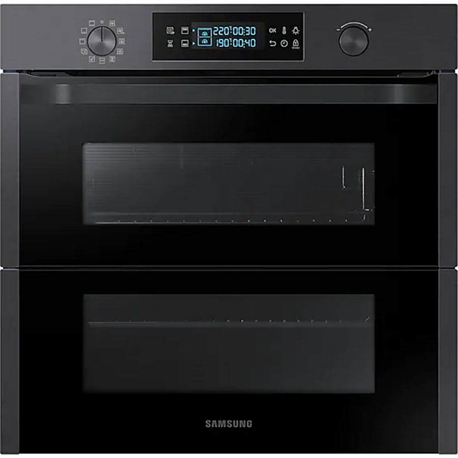 test samsung nv75n5671rm dual cook flex four encastrable. Black Bedroom Furniture Sets. Home Design Ideas