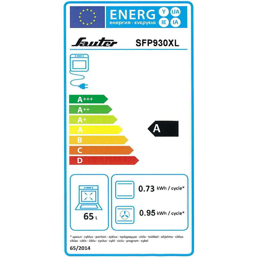 Sauter SFP930XL - Étiquette énergie