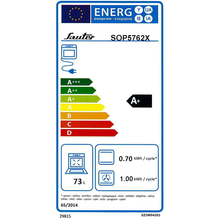 Sauter SOP5762X(*35*) - Étiquette énergie