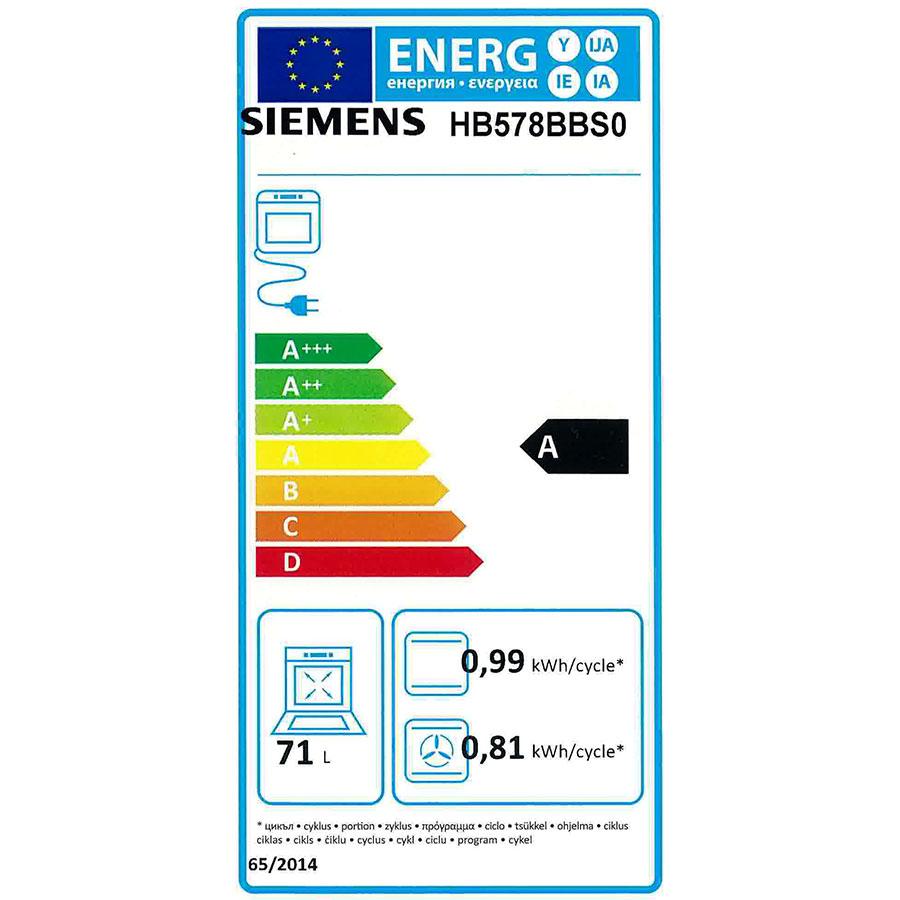 Siemens HB578BBS0 - Étiquette énergie