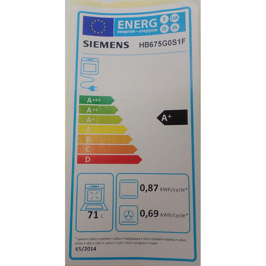 Siemens HB675G0S1F - Étiquette énergie