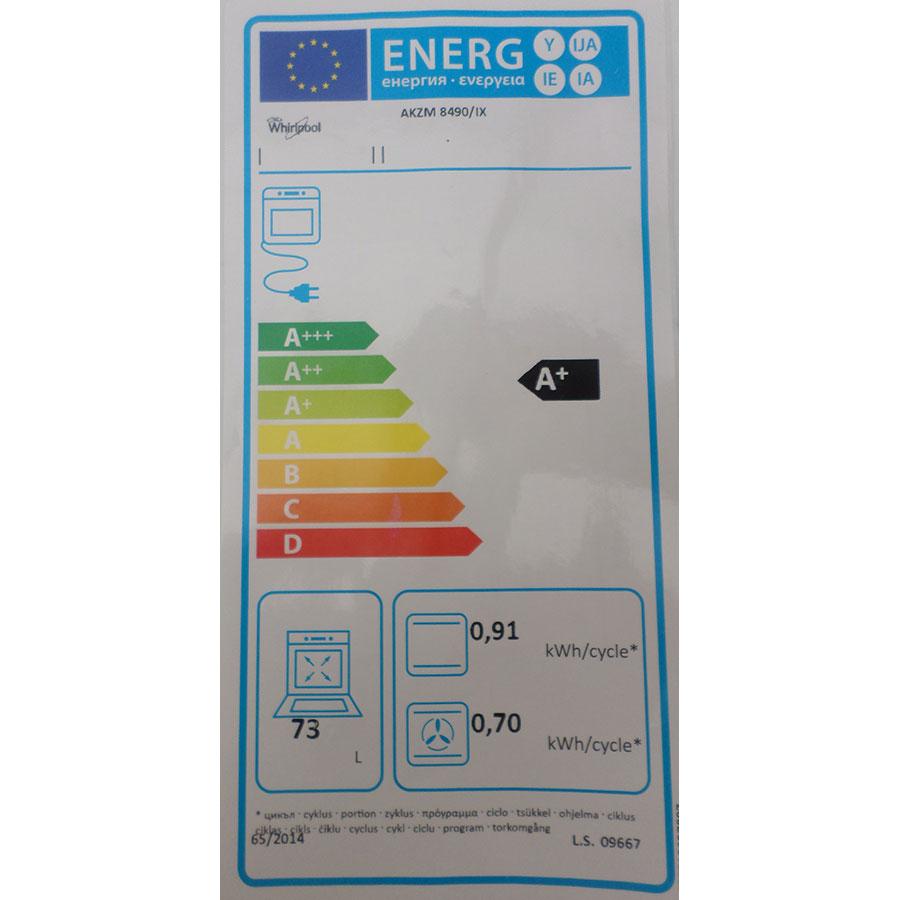 Whirlpool AKZM8490/IX - Étiquette énergie