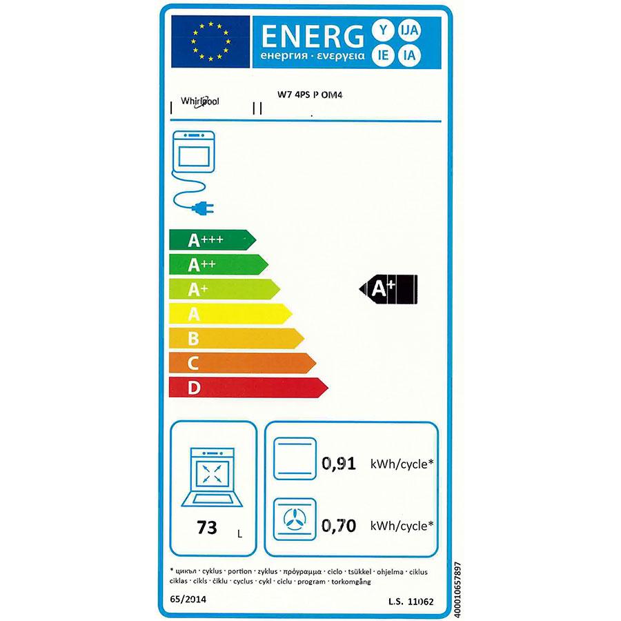 Whirlpool W74PSPOM4 - Étiquette énergie
