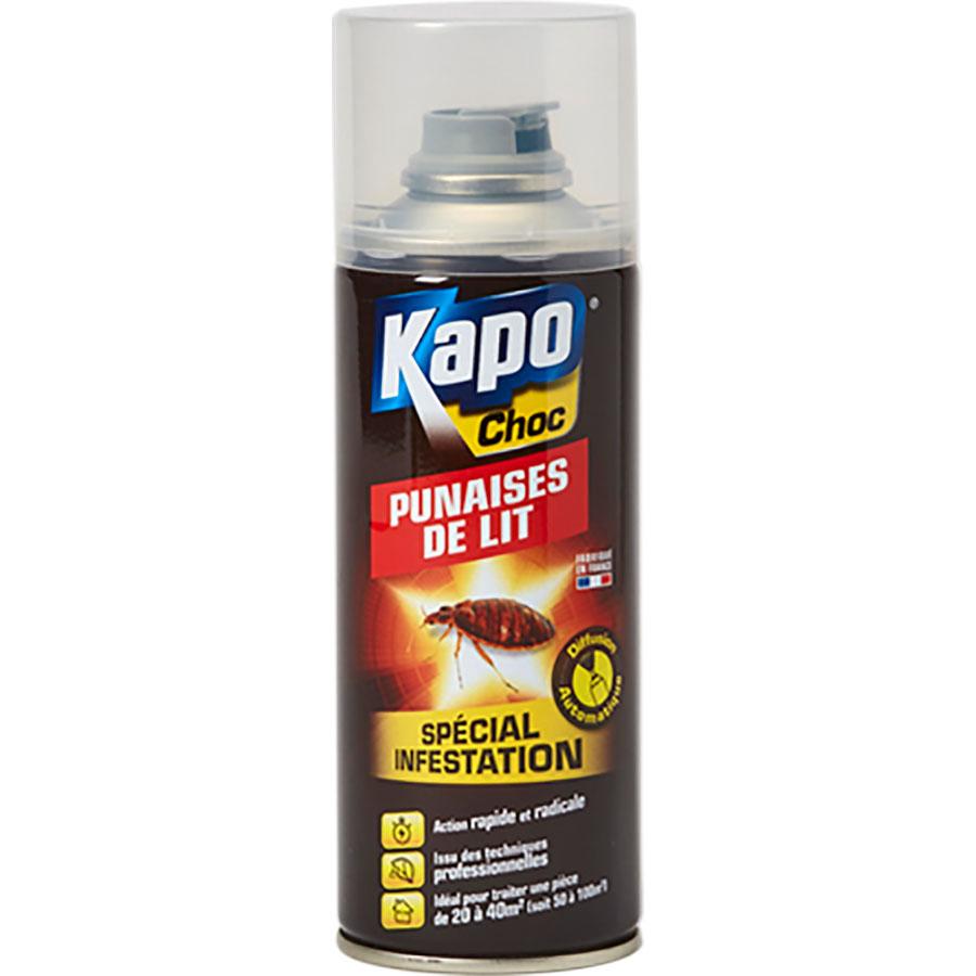 Kapo choc Aérosol punaises de lit spécial infestation -