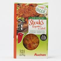 Auchan Envie de veggie Steaks légumes du soleil tomates courgettes poivrons aubergines