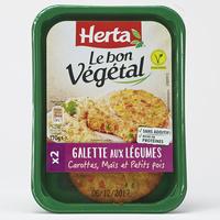 Herta Le bon végétal Galette aux légumes carottes, maïs et petits pois