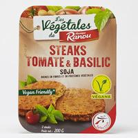 Intermarché Monique Ranou Steaks tomate et basilic soja