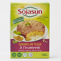 Sojasun Steaks de soja à l'indienne tomates oignons épices curry