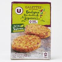 U Galettes aux céréales boulgour pois chiches & légumes du soleil