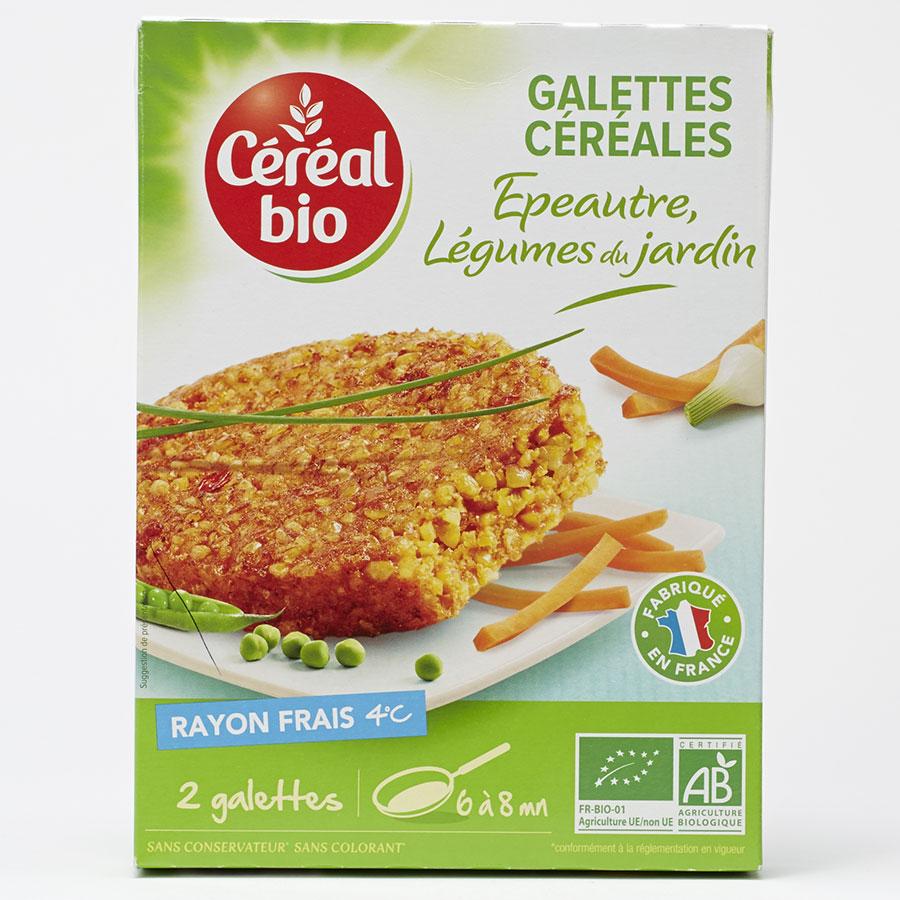 Céréal bio Galettes céréales épeautre légumes du jardin -