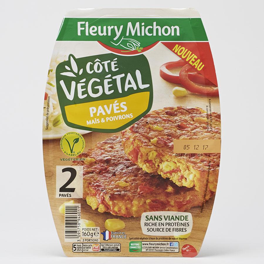 Fleury Michon Côté végétal Pavés maïs & poivrons -