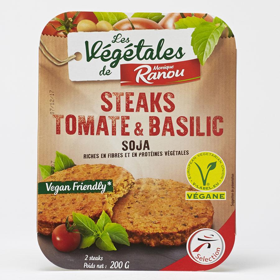 Intermarché Monique Ranou Steaks tomate et basilic soja -