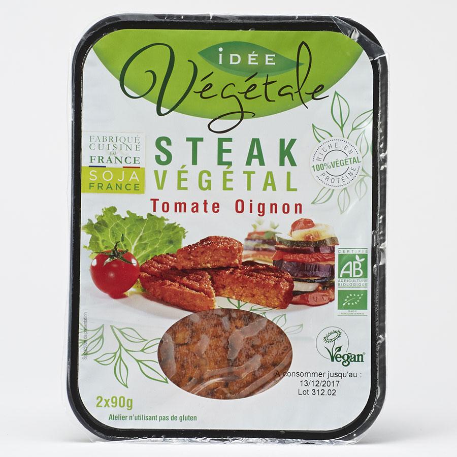 Tossolia Idée végétale Steak végétal tomate oignon -