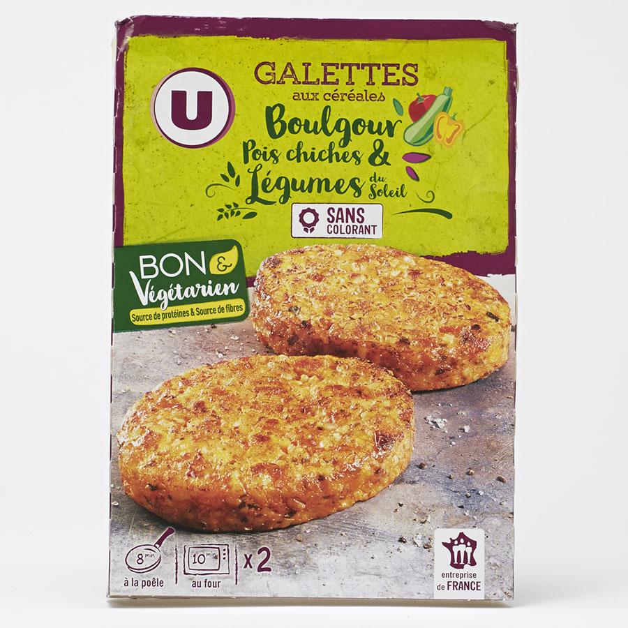 U Galettes aux céréales boulgour pois chiches & légumes du soleil -
