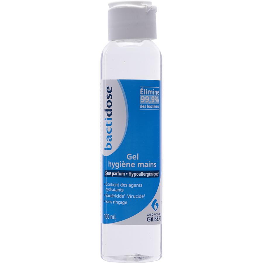 Bactidose Gel hygiène mains sans parfum hypoallergénique -