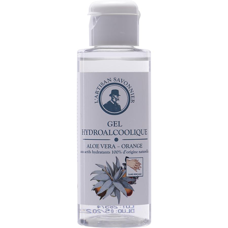 L'artisan savonnier Gel hydroalcoolique Aloe Vera - Orange aux actifs hydratants 100% d'origine naturelle -