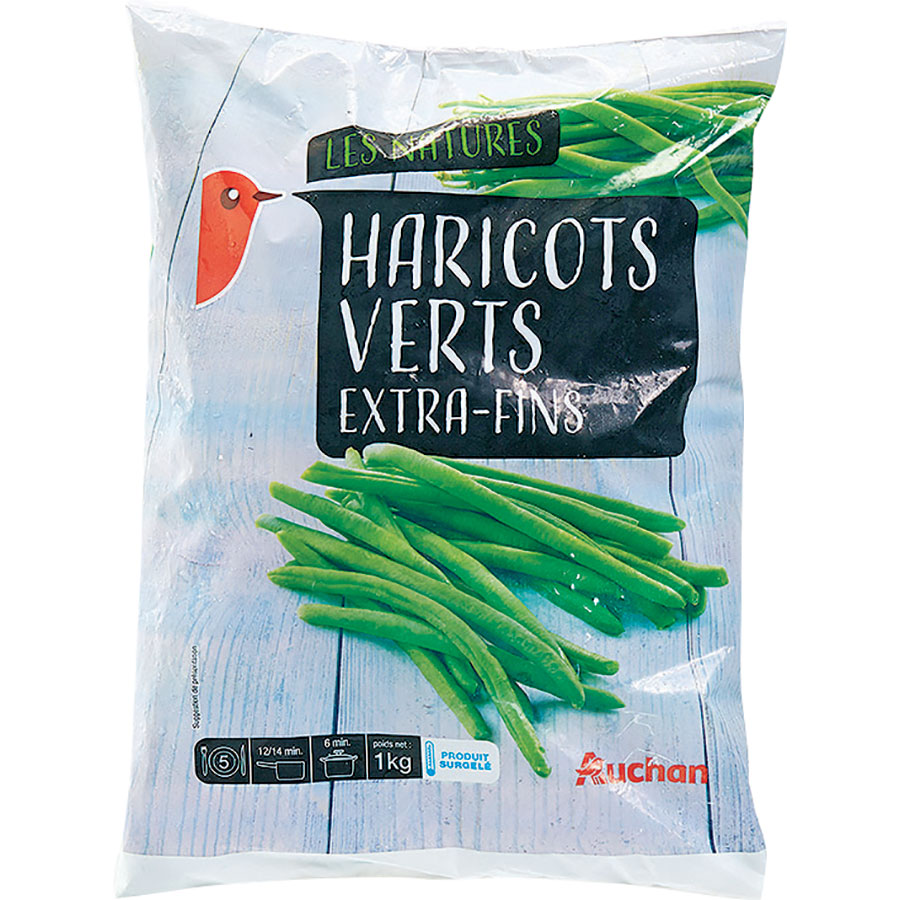 Auchan Haricots verts extra-fins – Les Natures -