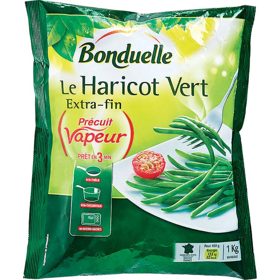 Bonduelle Le haricot vert extra-fin, précuit vapeur  -
