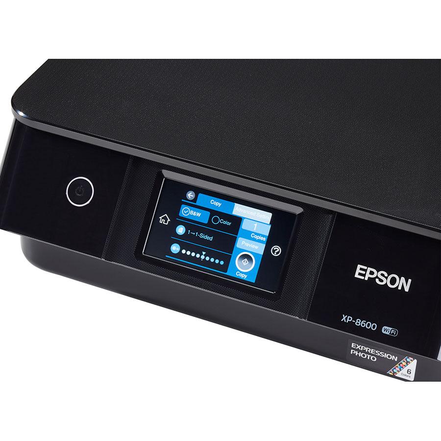 Epson Expression Photo XP-8600 - Bandeau de commandes