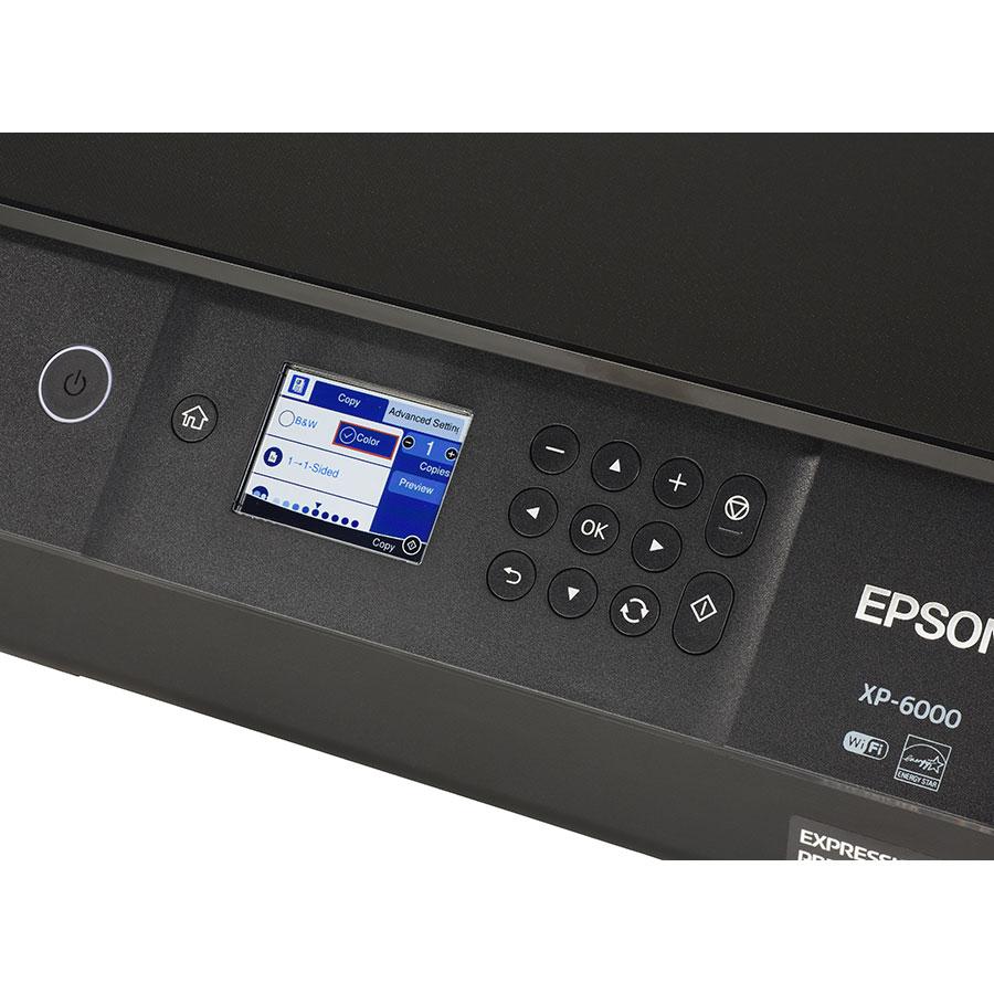 Epson Expression Premium XP-6000 - Bandeau de commandes